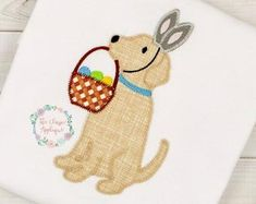 Check out our lab applique design selection for the very best in unique or custom, handmade pieces from our embroidery shops. Embroidery Files, Machine Embroidery, Applique Designs, Embroidery Designs, Bunny Face, All Design, Easter Bunny, Patches, Snoopy