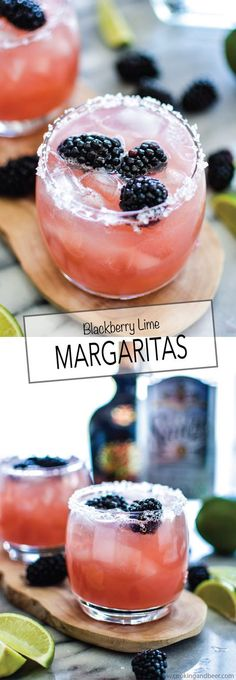 Blackberry Lime Margaritas | www.cookingandbeer.com