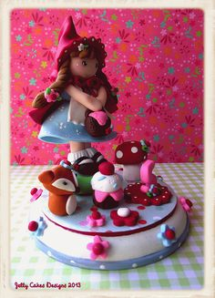 Little Red Ridinghood Keepsake Cake Topper