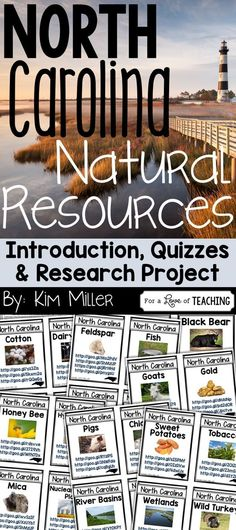 North Carolina Natural Resources (with introduction/review, quizzes, and research project for students)