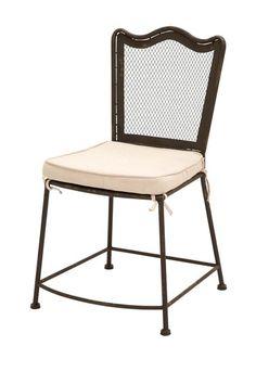 Rustic Vintage Metal & Fabric Chair.