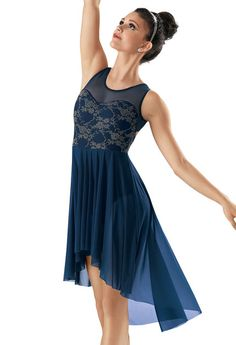 Lace Mesh High-Low Dress -Weissman Costumes