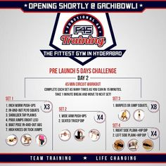 Set yourself a fitness benchmark for this winter by participating this F45 Prelaunch Challenge #FitnessChallenge #F45 #FitnessFriday