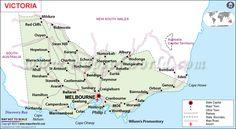 Road Map of Victoria, Australia. Australia Map, Australia Capital, Victoria Australia, Map Of Victoria, Melbourne Victoria, South Wales Map, Advance Australia Fair, Travel Oz, Australian Capital Territory