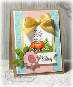 Happy Spring by deconstructingjen - Cards and Paper Crafts at Splitcoaststampers