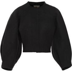 Gvenchy brown velvet trim light wool jacket | Jackets & Sweaters ...