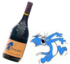 """Mais pourquoi donc ce nom """"Peur Bleue"""" ? / Why this name """"Peur Bleue""""? A. Parce que c'est un vin vinifié dans une cuve de couleur bleue / Because this wine is vinified in a blue tank. B. Parce que le bleu est la couleur... du souffre / Because blue is the colour of... sulfites C. Parce que c'est un vin qui fait peur / Because it is a scary wine..."""