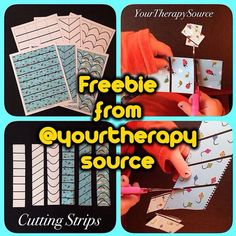 Thanks @yourtherapysource!! FREE cutting strips on the @yourtherapysource blog through this (safe) shorty- - click on pin for more!    - Like our instagram posts?  Please follow us there at instagram.com/pediastaff