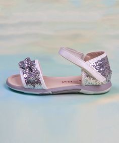 Take a look at the Silver Glitter Sandal on #zulily today!