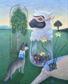 The resurrection of spring 🌿 #shelestart #painting #popsurrealism #lowbrow #lowbrowart #contemporaryart