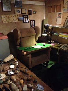 Roald Dahl's office! #UK Office Uk, Roald Dahl, Poker Table, Corner Desk, United Kingdom, Inspiration, Home Decor, Libraries, Corner Table