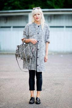 spotted in Copenhagen: Acne coat, Rag & Bone pants, and Alexander Wang bag #streetstyle