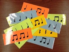 This is a PDF of 16 flashcards per page - horizontally). I suggest cutting (one quick cut with a paper cutter on the whole stack and you're read. Music Activities, Music Games, Music Sub Plans, Middle School Music, Elementary Music, Music For Kids, Classroom Inspiration, Music Classroom, Teaching Music
