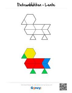 Deze patronen passen in het thema Lente. Elk patroon is beschikbaar met of zonder kleur, zodat je zelf de moeilijkheidsgraad kunt kiezen. School Study Tips, Montessori Activities, Math Worksheets, Pattern Blocks, Anastasia, Lesson Plans, How To Plan, Note Cards, Colors