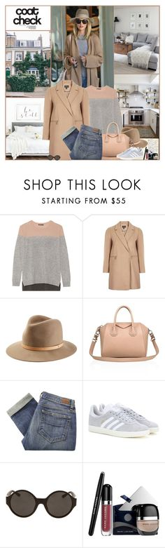 """""""Coat Check"""" by kittyfantastica ❤ liked on Polyvore featuring Vince, Topshop, rag & bone, Givenchy, Paige Denim, adidas, The Row and Marc Jacobs"""