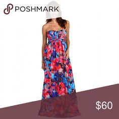 🔥Strapless Floral Formal Maxi Brand New With Tags. This is a long silk-like floral maxi by Jessica Simpson. This can be worn casually or formally to a prom or on a cruise. This is a truly gorgeous and colorful dress that just needs a place to go!                          ✨Top Rated Seller ✨ 💨 Fast Shipping Times 💨 💕Quick Responses 💕 ✅ Great Items ✅ 🛍 Awesome Bundle Deals 🛍 😃Thanks For Visiting! 😃 Jessica Simpson Dresses Maxi