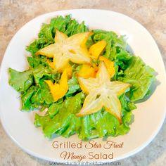 Grilled Star Fruit Mango Salad -  SeductionInKitchen