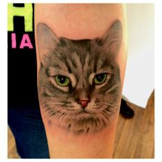 """70 Likes, 13 Comments - ☠Steven Shippey☠ (@voodootaddoo) on Instagram: """"First cat tattoo. #tattoo #cat #pussy"""""""