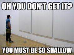 man watch white paintings
