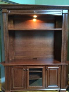 Amish Lincoln Plasma TV Stand with Optional Hutch Top | Amish TV Stands 45017