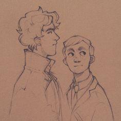 Sherlock and Watson! Sherlock Bbc, Sherlock Holmes Benedict, Sherlock Season, Sherlock Fandom, Watson Sherlock, Sherlock Quotes, Benedict Cumberbatch, Sherlock Cartoon, Sherlock Poster