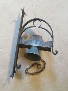 A Very Old Antique Hand Wrought 1800's Hanging Dinner School Farm Church Bell