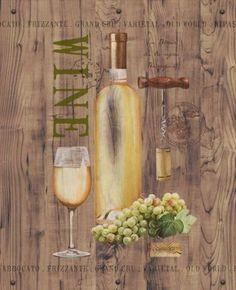 Anastasia-Ricci-White-Wine-on-Reclaimed-Wood-Fertig-Bild-40x50-Wandbild-Wein