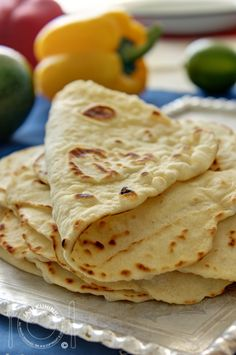 Home made tortillas are the best! Mexican Food Recipes, Snack Recipes, Cooking Recipes, Bread Dough Recipe, Kolaci I Torte, Serbian Recipes, Good Food, Yummy Food, Bread And Pastries