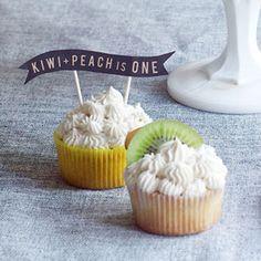 Spiked Peach Cupcake