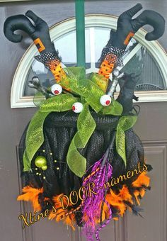 Free Shipping, New Etsy Listing, Halloween Wreath, Witch's Calderon Wreath, Witch Wreath, Witch's Brew Wreath, Halloween Door Decor by XtinesDOORnaments on Etsy https://www.etsy.com/listing/250186470/free-shipping-new-etsy-listing-halloween