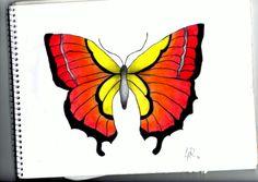 #butterfly #borboleta #drawing #colourful