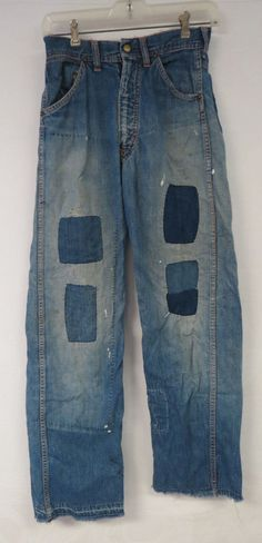 VINTAGE DENIM JEANS INDIGO YOUTH OR WOMENS XS TUF NUT DISTRESSED 26 X 29 DESTROY