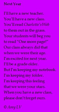 Poetry and lessons for children of all ages by Amy Ludwig VanDerwater for classrooms or homeschools to teach literacy and writing workshop instruction Teacher Poems, Best Teacher, Teacher Gifts, Teacher Presents, School Fun, School Teacher, School Daze, Future Jobs, Teacher Appreciation Week