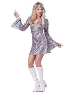 Disco Sensation Adult Costume | California Costumes Available in Adult Sizes: XS, S, M, L www.californiacostumes.com