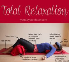Pin it! Total relaxation in yoga. Wearing: lululemon crops, Ann Taylor tank, Rag & bone sweater (same style, different color). Using Manduka travel mat, ikea blankets, homemade eye pillow (similar)