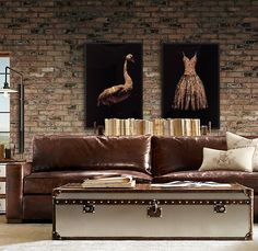 Maxwell Leather Sofa - Restoration Hardware
