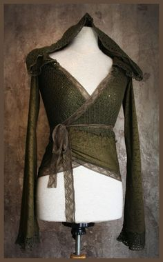 *forest elf* mossy green lace hoodie ✖️More Pins Like This of At FOSTERGINGER @ Pinterest✖️