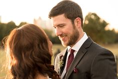 The way Chris is looking at his beautiful bride, Chantal, is the way we look at our pizza. This gorgeous couple's wedding was held at Park Tavern in Atlanta, Georgia. Chantal's beautiful wavy brown hair matched the style of her wedding gown just beautifully. Park Tavern, Piedmont Park, He's Beautiful, Atlanta Georgia, Brown Hair, Special Events, Wedding Gowns, Pizza, Couple Photos