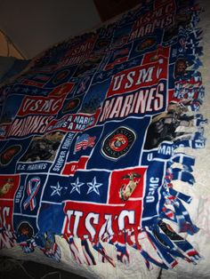 Marine Corps Fleece Blanket.