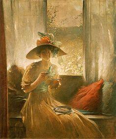 The Gossip - John White Alexander