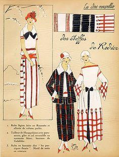 """1923 RODIER ''Les Idees Nouvelles de la Mode'' Fashion Art Deco Pochoir """"Tres Parisien"""""""
