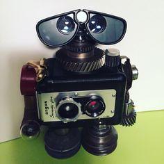 Robot sculpture found art robot by: Jenifer Braun by LucyLinds on Etsy