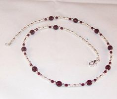 Ruby and Silver Necklace by kippyskreations on Etsy, $15.00