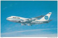 PAN AM 747SP Jet airplane , 60-70s
