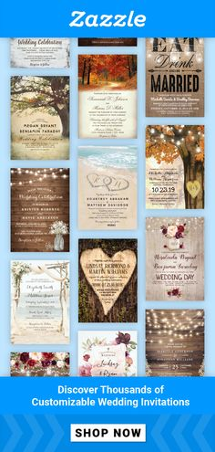 Set the tone for your wedding with customizable invitations in your colors & theme. 💕 Explore our selection of over 686,000 design options to create wedding cards as one-of-a-kind as your love for each other. When the big day is over, we've got a huge variety of thank-you cards to show your guests how much you appreciate them.