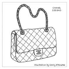 40 Best Designer Handbag Illustration Images Drawing Bag Satchel