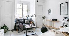 Estilo escandinavo en un apartamento muy pequeño