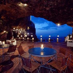Nothing quite like a cave restaurant with a view. Photo courtesy of globaltouring on Instagram.