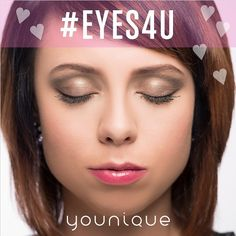 One day till Valentine's Day & we only have #Eyes4U! Daring Pigment on the lid andin the crease Proper Eyeliner on the upper lash line Daring and Dignified Pigments on the lower lash line Medium Brow Liner 3D Fiber Lashes Shy Lip Stain & Loyal Lip Gloss Sweet Blusher Post your Valentine's eye looks with hashtag #Eyes4U!