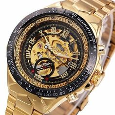 Cheap gift gifts, Buy Quality gift men directly from China gifts watch Suppliers: 2017 New Fashion Men Mechanical Watch Winner Golden Top Brand Luxury Steel Automatic Classic Skeleton Wristwatch BEST Gift Skeleton Clock, Skeleton Watches, Male Skeleton, Smartwatch, Winner Watches, Fossil Watches For Men, Wrist Watches, Men's Watches, Mechanical Watch